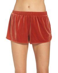 Madewell - Velvet Pajama Shorts - Lyst