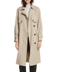 Joie | Alwena Cotton Trench Coat | Lyst