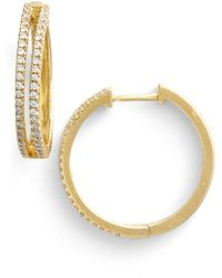 Bony Levy - Diamond Split Hoop Earrings (limited Edition) (nordstrom Exclusive) - Lyst