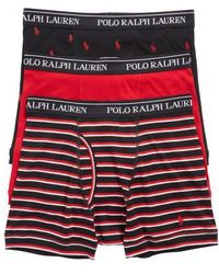 Polo Ralph Lauren - 3-pack Cotton Boxer Briefs - Lyst