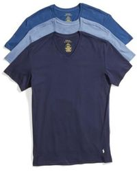 Polo Ralph Lauren | 3-pack Trim Fit T-shirt, Blue | Lyst