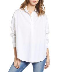 French Connection - Rhodes Poplin Shirt - Lyst