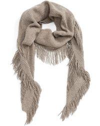 Stella McCartney - Fringe Cashmere & Wool Scarf - Lyst