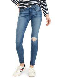 J.Crew | J.crew Toothpick Drop Hem Skinny Jeans | Lyst