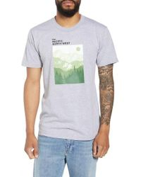 Casual Industrees - Pnw Mountains Graphic T-shirt - Lyst