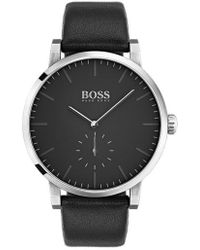 BOSS - Essence Leather Strap Watch - Lyst