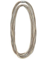 Lafayette 148 New York - Mesh Chain Multistrand Necklace - Lyst