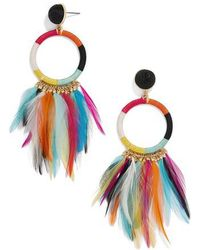 BaubleBar | Feather Statement Shoulder Duster Earrings | Lyst