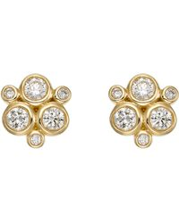 Temple St. Clair - 18k Yellow Gold And Diamond Trio Stud Earrings - Lyst