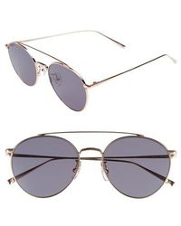 Vedi Vero - 56mm Round Metal Aviator Sunglasses - Lyst