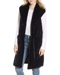 Heurueh - Heather Faux Mink Fur Vest - Lyst