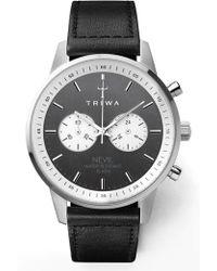Triwa - Slate Nevil Leather Strap Watch - Lyst