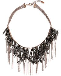 Brunello Cucinelli - Monili Fringe Collar Necklace - Lyst