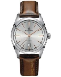 Hamilton - American Classic Automatic Leather Strap Watch - Lyst