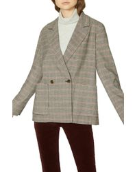 Sanctuary - Heritage Plaid Boyfriend Blazer - Lyst