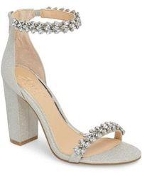 Badgley Mischka - Jewel By Badgley Mischka Mayra Embellished Ankle Strap Sandal - Lyst