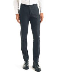 Good Man Brand - Flat Front Stretch Wool Blend Trousers - Lyst