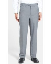 Berle | Self Sizer Waist Tropical Weight Flat Front Trousers | Lyst