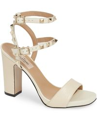 75f513e540cf Lyst - Valentino  rockstud  Ankle Strap Sandal in Natural