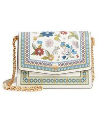 Tory Burch - Robinson Floral Print Shoulder Bag - Lyst
