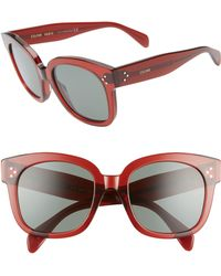 16a2f5ced33 Lyst - Céline Pearly Round Sunglasses in Pink