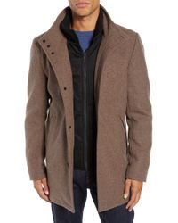 Vince Camuto - Classic Wool Blend Car Coat With Inset Bib - Lyst