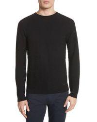 Emporio Armani - Slim Fit Allover Links Sweater - Lyst