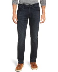 PAIGE - Transcend - Federal Slim Fit Straight Leg Jeans - Lyst