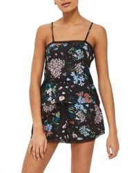 TOPSHOP - Montana Floral Pajama Camisole - Lyst