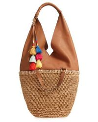 Vince Camuto - Hedda Convertible Straw Tote - Metallic - Lyst