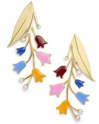 Tory Burch - Bellflower Imitation Pearl Statement Earrings - Lyst