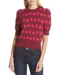 Kate Spade - Puff Sleeve Sweater - Lyst