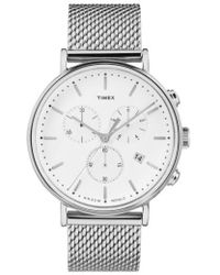 Timex - Timex Fairfield Chronograph Mesh Strap Watch - Lyst