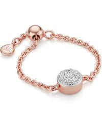 Monica Vinader - Fiji Mini Button Adjustable Ring - Lyst