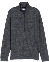 Calibrate - Textured Zip Fleece Sweatshirt - Lyst