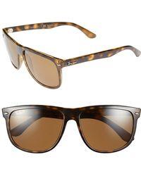Ray-Ban - 'boyfriend' 60mm Polarized Sunglasses - - Lyst