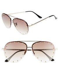 Privé Revaux - The Sixth Man 60mm Studded Aviator Sunglasses - Lyst