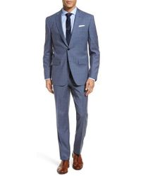 Ted Baker | Jay Trim Fit Plaid Wool Suit | Lyst