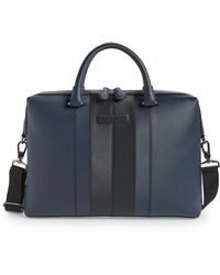 8f2c4adab Lyst - Ted Baker Color Block Leather Satchel in Blue for Men