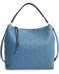 MCM - Klara Monogrammed Leather Hobo Bag - Lyst