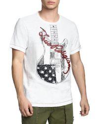 True Religion - Puff Guitar T-shirt - Lyst