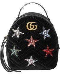 931c28481f39 Lyst - Gucci Black Velvet Gg Marmont 2.0 Belt Bag in Black