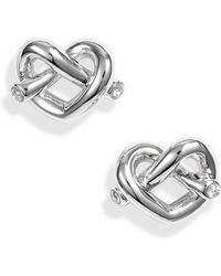 Kate Spade - Loves Me Knot Stud Earrings - Lyst