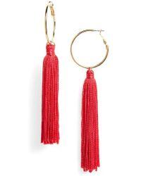 Panacea - Tassel Hoop Earrings - Lyst