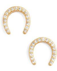 Kate Spade - Pave Horseshoe Earrings - Lyst