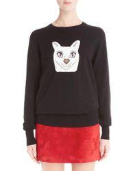 Loewe - Wool Blend Intarsia Sweater - Lyst
