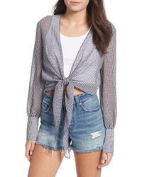 The East Order - Heather Tie Front Top - Lyst