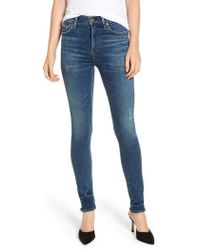 Citizens of Humanity - Rocket High Waist Raw Release Hem Skinny Jeans - Lyst