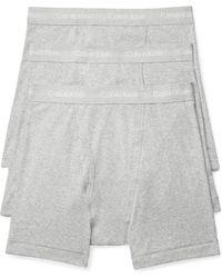 Calvin Klein - 3-pack Boxer Briefs, Grey - Lyst
