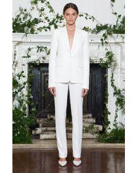 Monique Lhuillier - Yoko Double Weave Tuxedo Jacket - Lyst